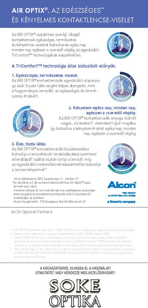 Soke Optika AirOptix Kontaktlencse Akció! c82b896878